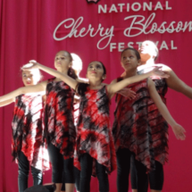 Dancers perform at National Cherry Blossom Festival in Washington DC