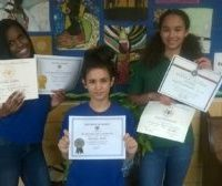 3 Dancers with their academic awards