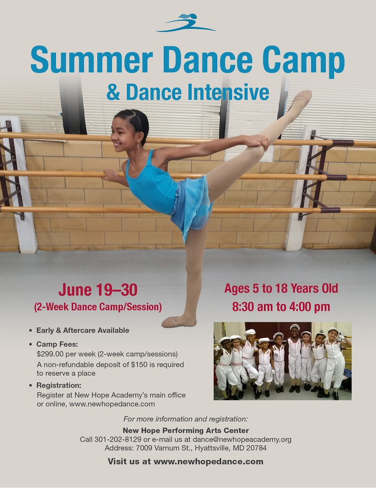 Summer Dance Camp 2017 flyer