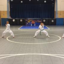 taekwondo class punching