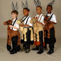 Boys acting as Donkeys