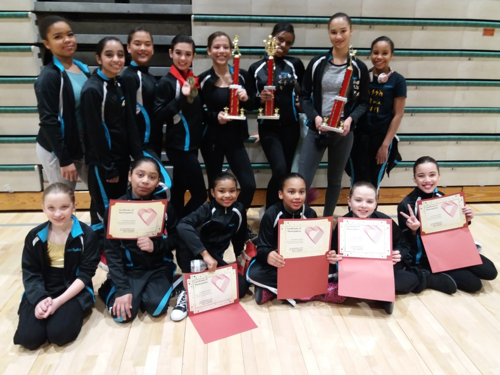 Dance Company with trophies and Certificates.