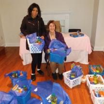 New Hope Dance Company prepares food donation baskets