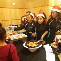 Toy distribution serving lunch