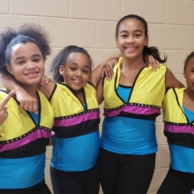 Junior dance company members at midnight madness