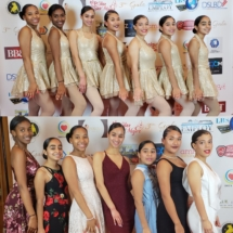 "New Hope dance company teens pose at the Gala ""El Poder de Ser Mujer""."
