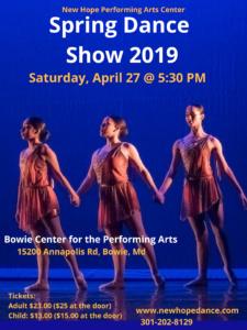 Spring Dance Show 2019 Flyer